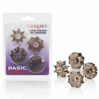 Basic Essentials Rings - Smoke Set of 4