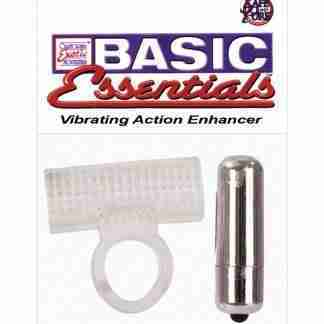 Basic Essentials Vibrating Action Enhancer - Clear