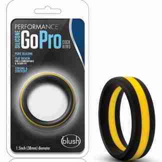 Blush Performance Silicone Go Pro Cock Ring - Black/Gold