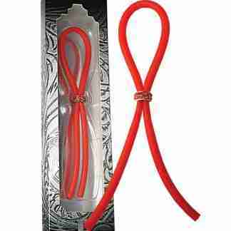 Bolo Silicone Band Lasso w/Red Gems - Red