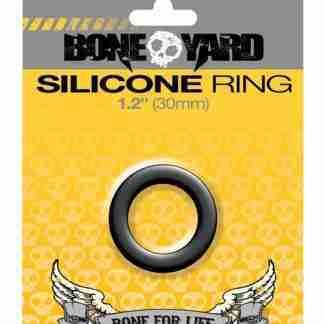 """Boneyard 1.2"""" Silicone Ring - Black"""