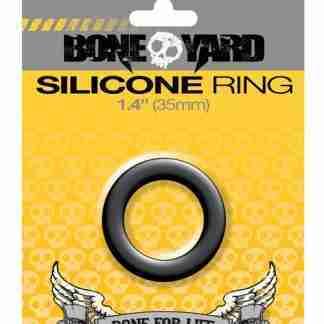 """Boneyard 1.4"""" Silicone Ring - Black"""