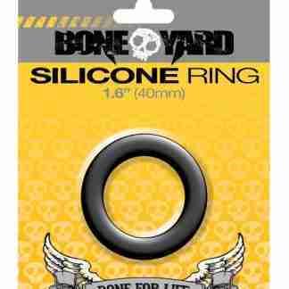 """Boneyard 1.6"""" Silicone Ring - Black"""
