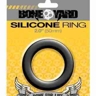 """Boneyard 2.0"""" Silicone Ring - Black"""