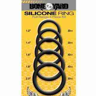 Boneyard 5 pc Silicone Ring Kit - Black