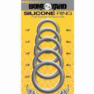 Boneyard 5 pc Silicone Ring Kit - Grey
