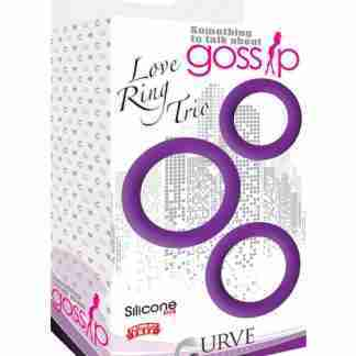 Curve Novelties Gossip Love Ring Trio - Violet