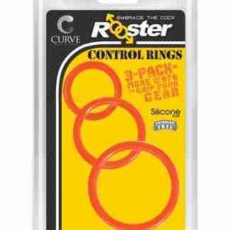 Curve Novelties Rooster Control Rings - Orange Set of 3