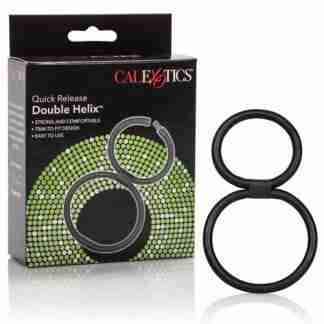 Double Helix Quick Release Erection Enhancer - Black