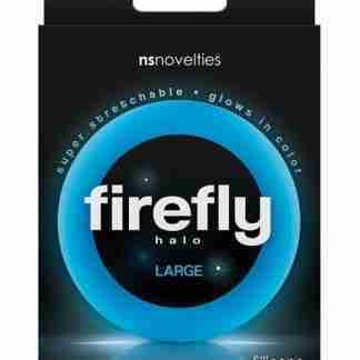 Firefly Halo Large Cockring - Blue