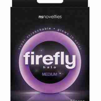Firefly Halo Medium Cockring - Purple