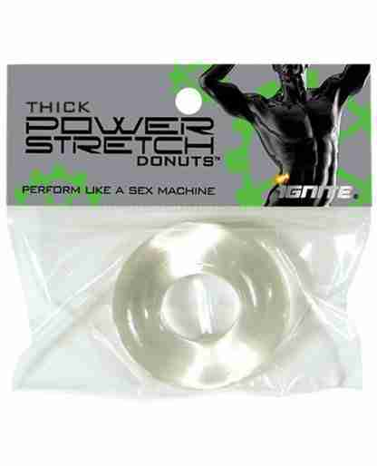 Ignite Thick Power Stretch Donut Cock Ring - Clear