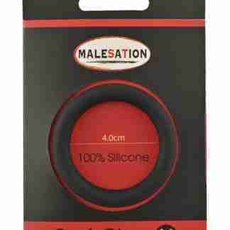 Malesation Silicone Cock Ring Medium - Black