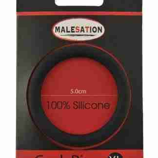 Malesation Silicone Cock Ring XLarge - Black