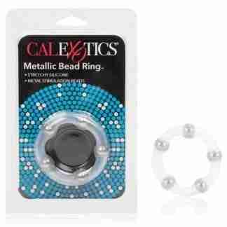 Metallic Bead Ring - Clear