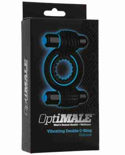 OptiMale Vibrating Double C Ring - Black