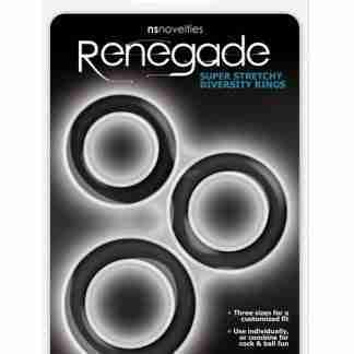Renegade Diversity Rings - Black Pack of 3