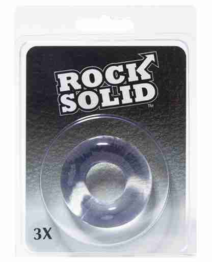 "Rock Solid 3"" Clear Donut Ring"