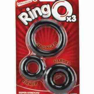 Screaming O RingO - Black Pack of 3