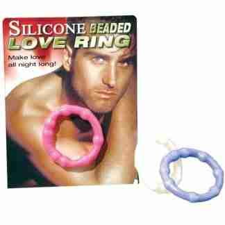 Silicone Beaded Love Ring - Clear