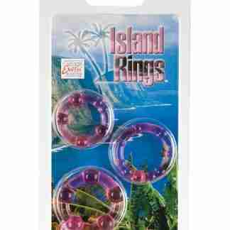 Silicone Island Rings - Pink