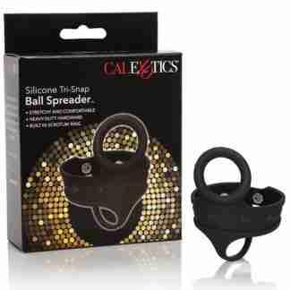 Silicone Tri Snap Ball Spreader - Black