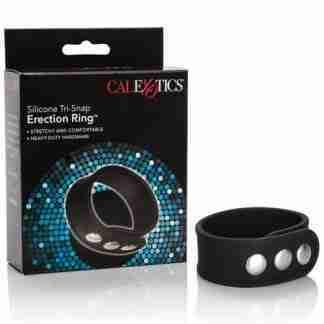 Silicone Tri-Snap Erection Ring - Black