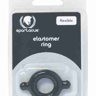 Spartacus Elastomer Cock Ring - Black
