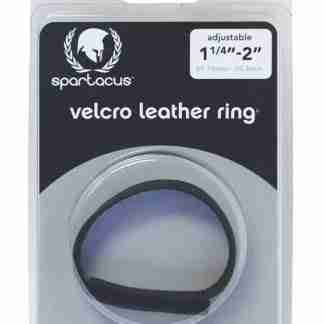 Spartacus Leather Sewn Velcro Cock Ring - Black