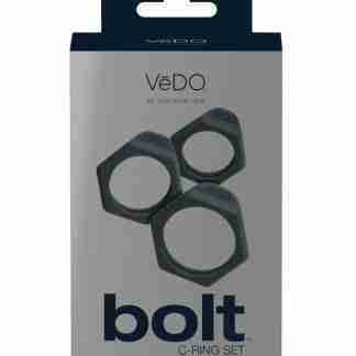 VeDO Bolt C Ring Set - Just Black Pack of 3