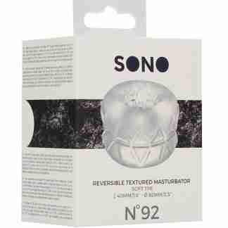 Shots Sono No. 92 Reversible Textured Masturbator - Transparent