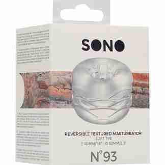 Shots Sono No. 93 Reversible Textured Masturbator - Transparent