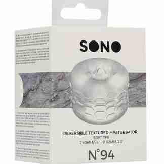 Shots Sono No. 94 Reversible Textured Masturbator - Transparent
