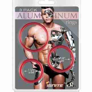 Aluminum Rings - Hellfire Pack of 3