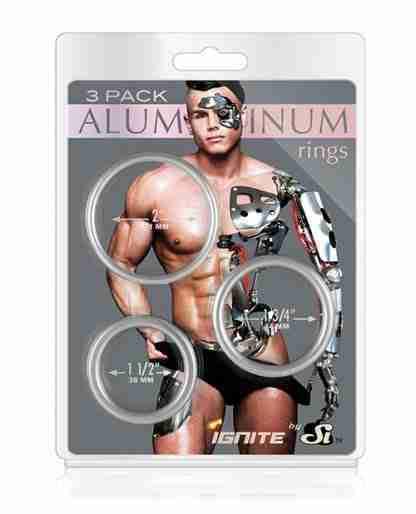 Aluminum Rings - Platinum Pack of 3