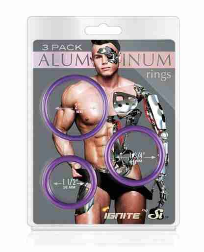 Aluminum Rings - Royal Purple Pack of 3