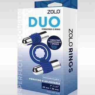 ZOLO Duo Vibrating Cock Ring - Blue