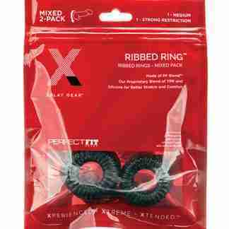 Xplay Gear PF Blend Premium Stretch Ribbed Ring Slim - Black - Pack of 2