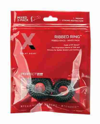 Xplay Gear PF Blend Premium Stretch Ribbed Ring Slim - Black - Pack of 2
