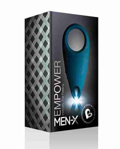 Rocks Off Men-X Empower Couples Stimulator - Blue